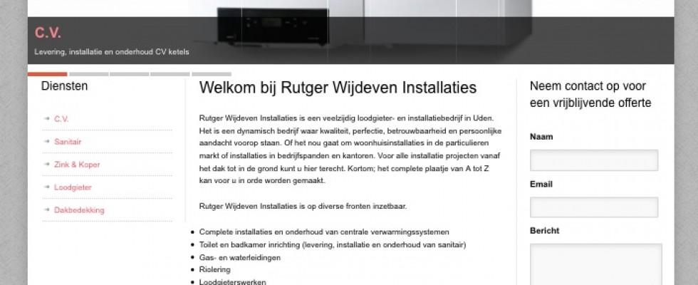 Design | webteksten | beheren van de website van Rutger Wijvende Installaties. Neem een kijkje: www.rutgerwijdeven.nl