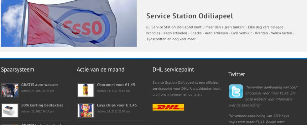 Voor benzinestation 'Service Station Odiliapeel' heeft Buro Bravo de website ontworpen en deze houdt ze nog regelmatig up to date met de nieuwste acties en aanbiedingen. Bezoek de site: www.servicestationodiliapeel.nl